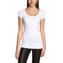 ICHI Damen T-Shirt N JENA SS, Einfarbig, Gr. 38 (Herstellergröße: M), Weiß (10100 White)