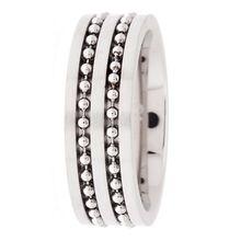 s.Oliver Edelstahl-Ring mit Kugelketten SO523 Ringe silber Herren