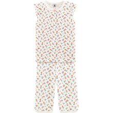 Petit Bateau kurzer Schlafanzug - bunte Blümchen