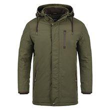 !Solid Dempsey Herren Parka lange Winterjacke Mantel mit Kapuze aus hochwertiger Materialqualität, Größe:L, Farbe:Ivy Green (3797)