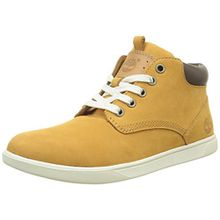 Timberland Groveton_Groveton Leather Chukka, Unisex-Kinder Sneakers, Braun (Wheat Nubuck), 35 EU