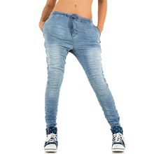 Damen Jeans, PLACE DU JOUR USED BOYFRIEND, KL-J-90138-C, Blau, 36