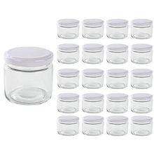20er Set Einmachgläser 125ml Sturzglas Marmeladenglas Weißer Deckel
