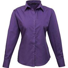 Premier Fitness Damen Bluse Poplin Long Sleeve Blouse, Purple (Rich Violet), 38