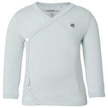 Noppies Unisex Baby T-Shirt U Tee LS Soly YD, Gestreift, Gr. 56, Grün (Grey Mint C175)
