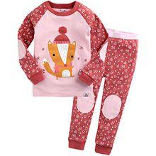 Vaenait Baby Kinder Maedchen Nachtwaesche Schlafanzug-Top Bottom 2 Stueck Set Oh Fox M