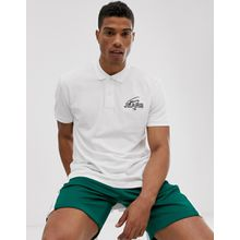 Tommy Jeans - Polohemd mit Grafik-Druck - Weiß
