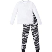 Calvin Klein Kinder Unisex Pyjama 'CUSTOMIZED STRETCH' schwarz / weiß
