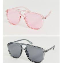 SVNX – 2er Packung gefärbte Sonnenbrillen-Mehrfarbig