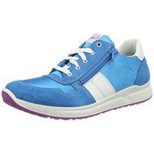 Superfit Merida Mädchen Sneaker, Blau (Türkis Kombi 91), 37 EU