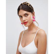 ASOS DESIGN - Haarband mit Knotendesign und Leoparden-Print - Mehrfarbig