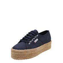 SUPERGA Sneaker '2790 - COTROPEW' mit Jute-Plateau sand / navy