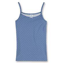 Sanetta Mädchen Unterhemd, All over Druck 343151, Gr. 128, Blau (5828)