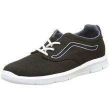 Vans Unisex-Kinder UY ISO 1.5 Sneakers, Schwarz (Canvas Black/Dark Slate), 31 EU