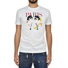DSQUARED2 Cotton T-shirt White Men's New - Size: M