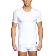 Skiny Herren Shirt/T-Shirt Essentials Men/6818 Hr. V-Shirt kz.Arm, Gr. 48 (M), Weiß (0500 WHITE)