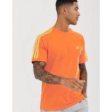 adidas Originals - T-Shirt in Orange mit 3 Streifen - Orange