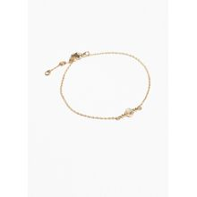 Stone Charm Chain Bracelet - Blue