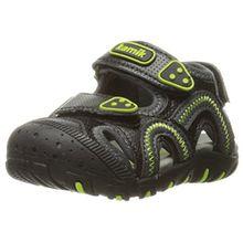 Kamik Jungen Seaturtle Geschlossene Sandalen, Schwarz (Black/Lime-Noir/Lime), 35 EU