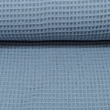 Brittschens Stoff und Zutaten Stoff Baumwolle Waffelpiqué Waffelpikee Waffelpique JEANSBLAU | Stoff zum nähen | Meterware | Babydecken nähen | Bademantel nähen