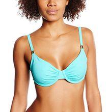 Skiny Damen Bikinioberteile Ocean Love Bügel BH, Gr. 80D, Türkis (caribi 5874)