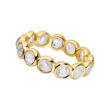 Ring Bohemian, 18 K Gelbgold vergoldet, Mondstein