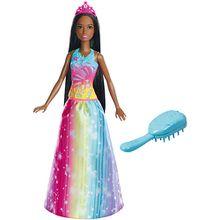 Barbie Dreamtopia Regenbogen-Königreich Magische Haarspiel-Prinzessin (brünett)
