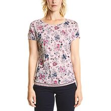 Cecil Damen T-Shirt 312299 Joline, Mehrfarbig (Blossom Melange 31285), Medium