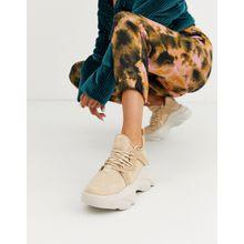 ASOS DESIGN - Director - Robuste Sneaker mit Schnürung in Beige - Beige