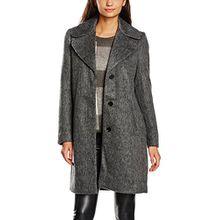 Vila CLOTHES Damen Mantel Vinuka Coat, Grau (Medium Grey Melange), 38 (Herstellergröße: M)