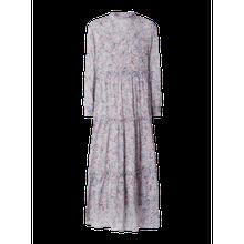 Kleid aus Chiffon mit Dreiviertelärmel