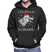Christmas is Coming Stark Direwolf Sigil Game Of Thrones Men's Hooded Sweatshirt