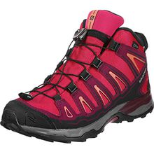 Salomon Unisex-Kinder X-Ultra Mid GTX J Trekking-& Wanderhalbschuhe, Pink (Virtual Pink/Beet Red/Living Coral 000), 35 EU
