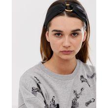 ASOS DESIGN - Schwarzes Haarband mit Bambusringdesign - Schwarz