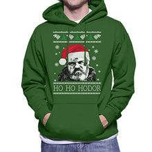 Game Of Thrones Ho Ho Hodor Christmas Knit Men's Hooded Sweatshirt