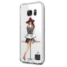 Samsung Galaxy S6 Hülle,Galaxy S6 edge Schutzhülle Silikon Silikonhülle Transparent TPU Bumper Schutz Handytasche Handyhülle Schale Case Cover für Galaxy S6 edge (Mädchen 5, Galaxy S6)