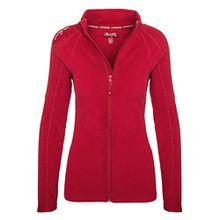 Geographical Norway Damen Fleece Jacke Übergangs Sweatjacke Pullover [GeNo-21-Rot-Gr.M]