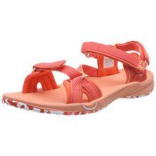Jack Wolfskin Lakewood Ride Sandal W, Damen Sport- & Outdoor Sandalen, Orange (Hot Coral), 37 EU (4 UK)