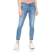 OPUS Damen Slim Jeans Elma 7/8 Blue, Blau (Fresh Blue 7306), 40