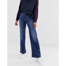 Only - Weitgeschnittene Jeans mit hohem Bund - Blau