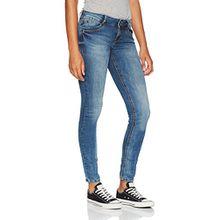 TOM TAILOR Denim Damen Skinny Jeans Jona 2 Button Authentic Blue, Blau (Mid Stone Wash Denim 1052), W30/L32 (Herstellergröße: 30)