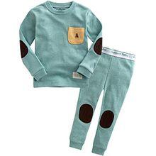 Vaenait Baby Kinder Maedchen Nachtwaesche Schlafanzug-Top Bottom 2 Stueck Set Simple Pocket Mint M