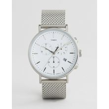 Timex - Fairfield - Chronograph mit Netzarmband in Silber, 41mm - Silber