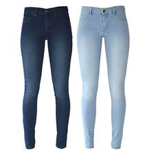 Zara Damen Jeanshose blau blau Gr. 40, hellblau