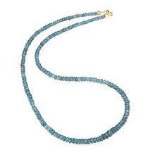 Verlaufscollier Indigo Kyanit mindestens 95,00ct Länge 47cm Gold 375