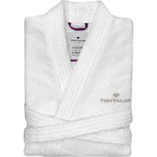 "TOM TAILOR Frottier-Bademantel ""Kimono"" weiß"