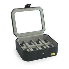 Cordays -Handgefertigte 8 Raster Vitrine mit gehärtetem Glasdeckel (Premium Qualität) für Uhren und Schmuck CDM-000037