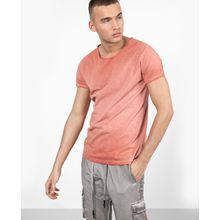 tigha Herren Basic Shirt Vito Slub rosa (dusty red)