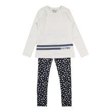 SANETTA Pyjama schwarz / weiß