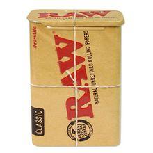 Zigarettendose 'RAW' Metalldose mit Schiebedeckel zur sicheren Aufbewahrung von Zigaretten